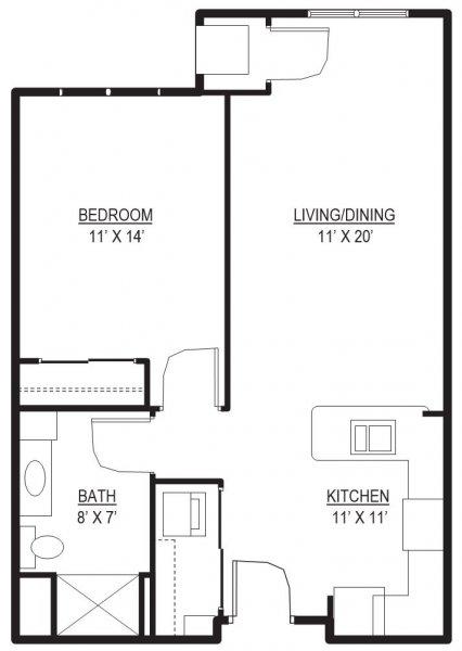 Bedford 1 Floor Plan