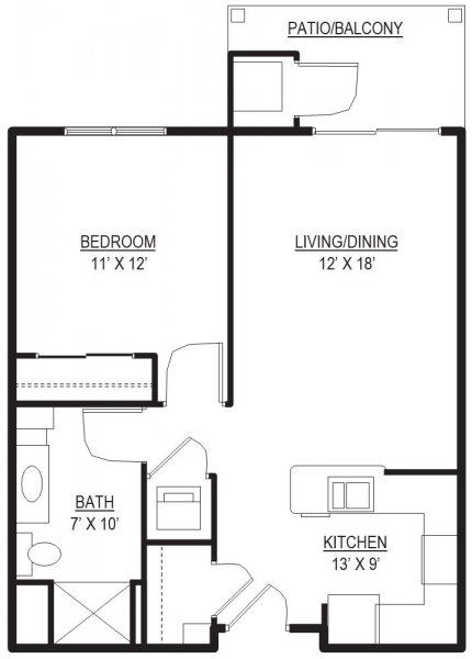 Bedford 2 Floor Plan